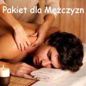masaż dla mężczyzn z napisem